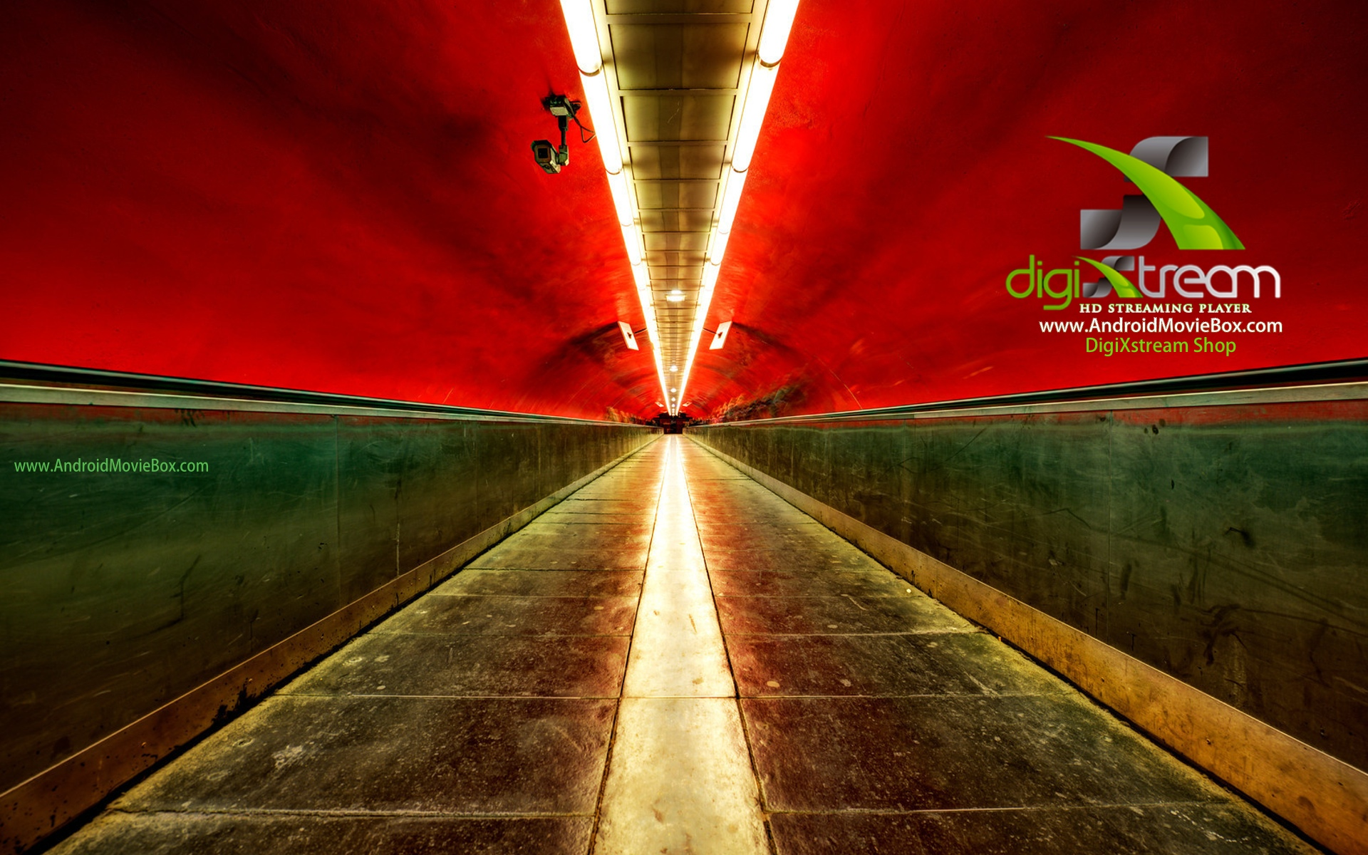DigiXstream AndroidMovieBox Background red tunnel